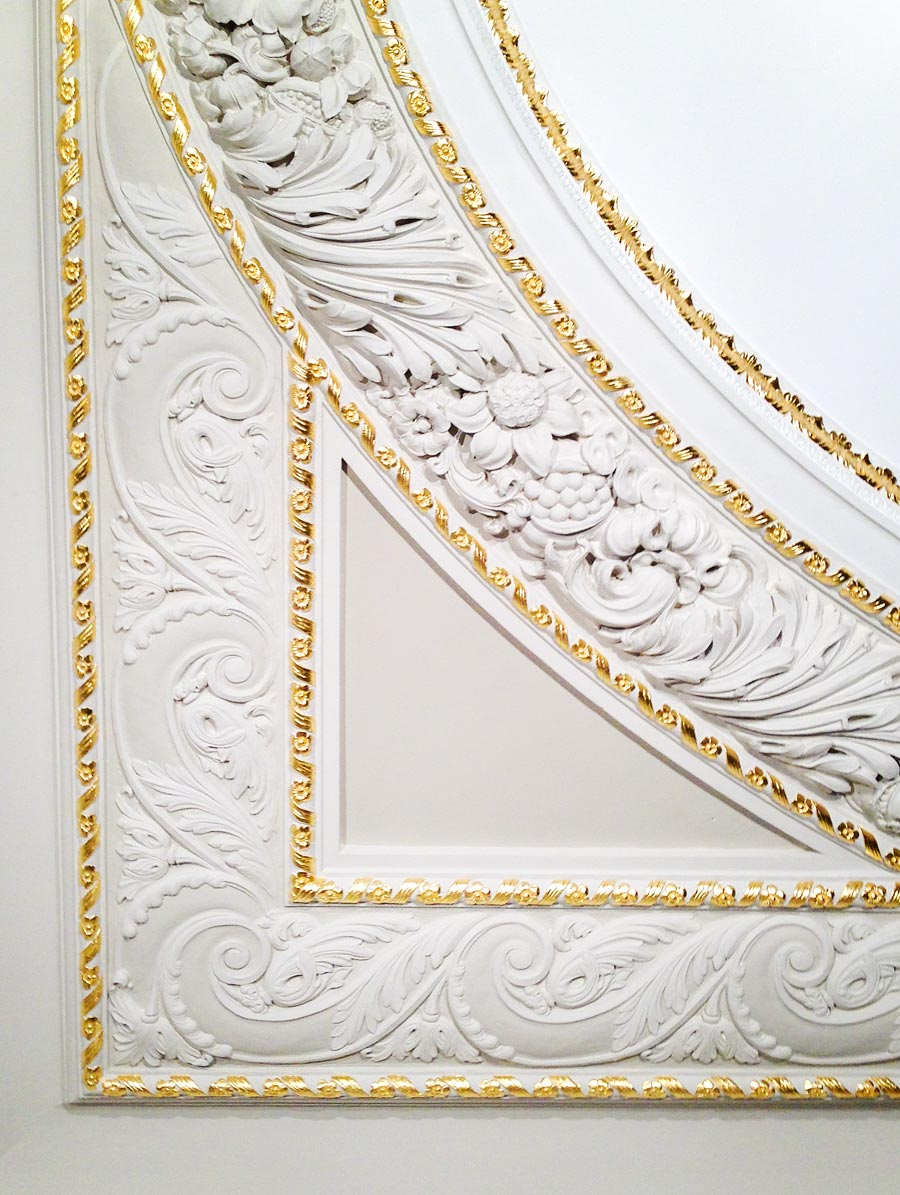 Architectural gilding work by Rupert Coke