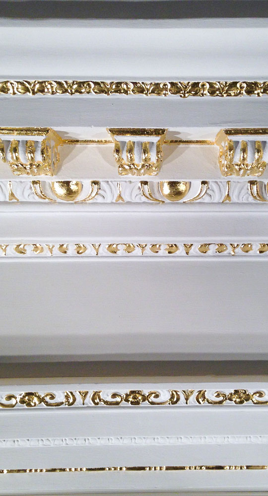 Architectural gilding work in a private house in Kensington